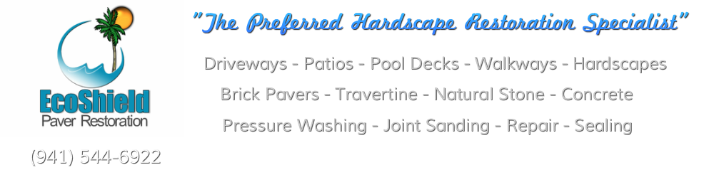 EcoShield Paver Restoration - clean & seal your paver brick driveway and pool deck.